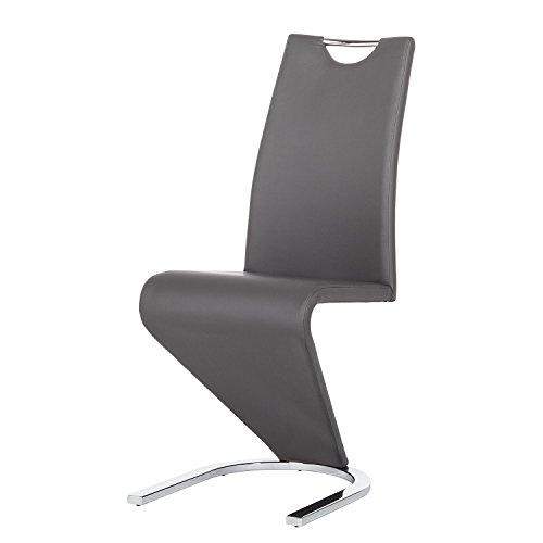 Furn-Direct24 2ER-Set Stuhl FREISCHWINGER Amado Kunstleder GRAU