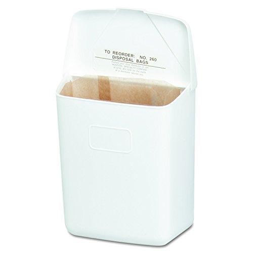 Hospeco Feminine Hygienebehälter, weißer ABS-Kunststoff, 250-201W