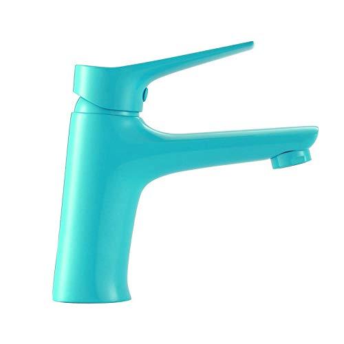 Grifo de lavabo azul