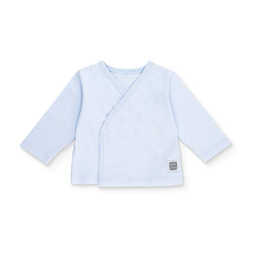 Minutus Camiseta Bebé, Modelo Plain, 100% Algodón (Azul Celeste, 0-1 mes)