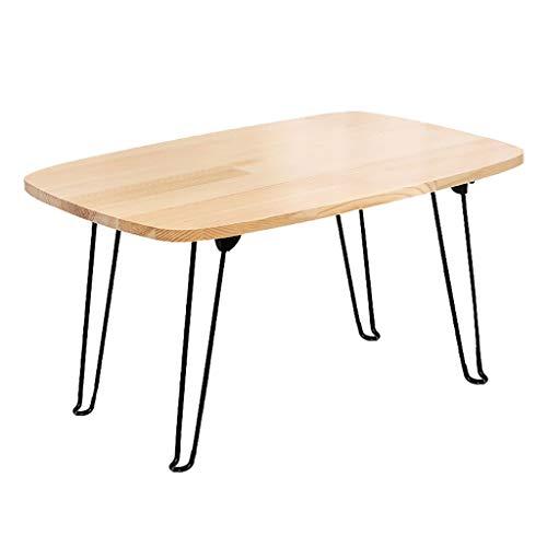 SH-tables Mesa plegable japonesa baja de madera/mesa de comedor/pequeño escritorio/mesa de ordenador, para ventana de tatami bahía sala de té