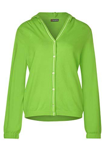Street One 253005 Cardigan, Verde (Flash Lime 12133), 44 (Taglia Produttore: 38) Donna