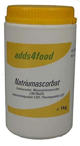 1kg Natriumascorbat in Pharmaqualität USP und Lebensmittelqualität E301