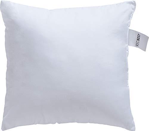 REDBEST Kissen, Kissenfüllung Textilfaser weiß Größe 40x40 cm - optimaler Feuchtigkeitsabtransport, Liegekomfort, hygienisch waschbar - Mikrofaser-Bezug