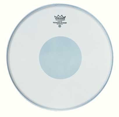 Remo, pelle di tamburo Rullante, controllo del suono, rivestimento nero, a pallini/Tom 14 Inches