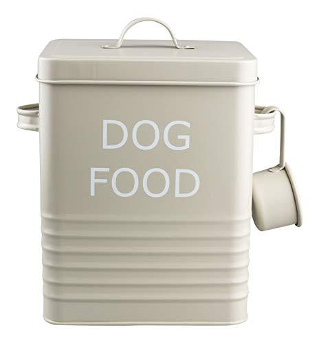 Aufbewahrungsdose für Hundefutter, klassischer Retro-Stil, Emaille, matt