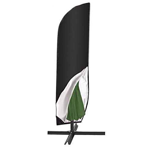 SanGlory 420D Sonnenschirm Abdeckung 4M Wasserdicht Sonnenschirm Hülle Große Outdoor Regenschirm Abdeckung für Ampelschirm/Standschirm und Gartenschirme mit Aufbewahrungstasche(280CM(46x81x30cm))
