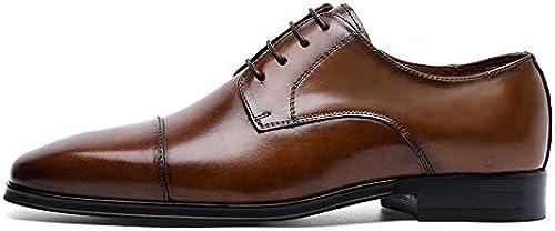 EGS-schuhe High-End Mengke Schuhe Leder High-End Buckle Monk Schuhe,Grille Schuhe (Farbe   Braun, Größe   43)