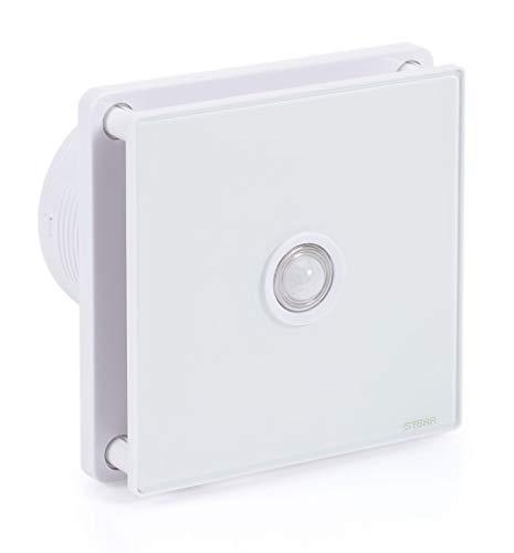 STERR - Badezimmerlüfter mit Glasfront und PIR Bewegungsmelder - BFS100P