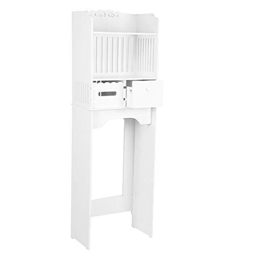 Garosa 3-Regal Toilettenregal Bad Lagerung Badezimmerregale Stand Organizer Platzsparer über dem Toilettenschrank Haushaltsbadezimmerzubehör mit Tissue Box und Schublade WPC