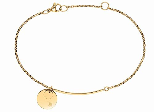 Tommy Hilfiger Women's Jewelry Stainless Steel Disc Bracelet, Color: Gold Plated (Model: 2780260)