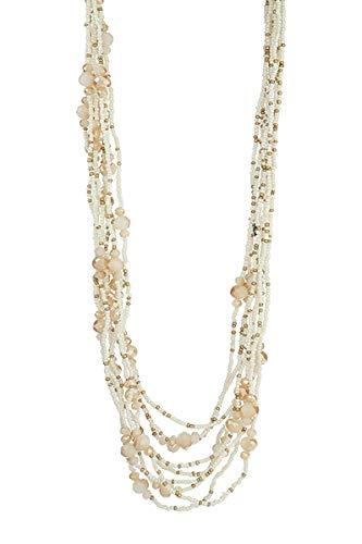 LIZAS Halskette Natural Tan Pearls Gold beige