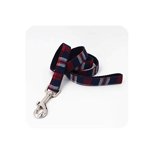 Plaid Hond kraag huisdier kat hond shirt kraag met strik geruit hond bandana sjaal door handgemaakte, M(30-45cm Length), leash only