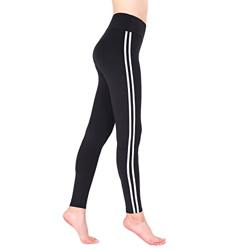 Nuofengkudu Mujer Raya Lateral Elasticos Talle Alto Leggins