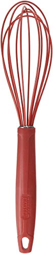 Kaiser Kaiserflex Red Schneebesen 29 cm, 100% Silikon Metallkern, spülmaschinengeeignet, hitzebeständig, Rührbesen, Quirl, rot