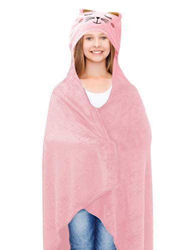 Lulu & Coco Super Soft Plush Hooded Animal Throw Girls Teens Young Adults Gift 40