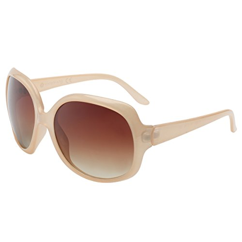 Vintage Damen übergroßen Sonnenbrille Polarisiert Elegant Square Sunglasses P1981I Nectar Nude