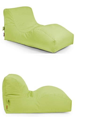 Outbag 2er Set Sitzsack Wave l Gartenliege l Plus Limegrün