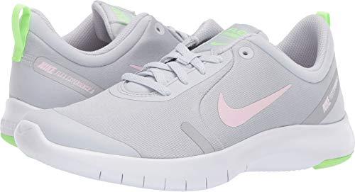 Nike Flex Experience RN 8 GS, Scarpe da Campo e da Pista Donna, Platino/Rosa/Platino (Pure Platinum/Pink Foam/Platinum Tint 002), 38.5 EU