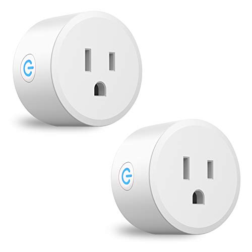 Dogain Smart Plugs Zigbee Mini Wifi Remote Outlet Works with SmartThings Hue Amazon Alexa (Hub Required) with Timer Repeater 10A Max. 2 Pack
