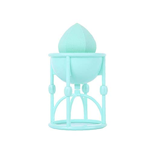 Maquillage Porte-éponge oeuf en poudre Puff Porte-écran Maquillage Stand Puff cosmétiques Fournitures Bleu 1Pc