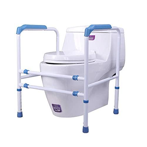 FYHH-JZHY Toiletten-Sicherheitsgeländer Toiletten-Sicherheitsrahmen Breitenverstellbare Höhe Toiletten-Sicherheitsbügel Behindertentoiletten-Handlauf Für Alle Toiletten Geeignet