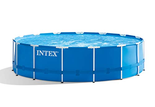 Intex Metal Pool Set de Piscina, Azul, 457 cm de diámetro x 122 cm