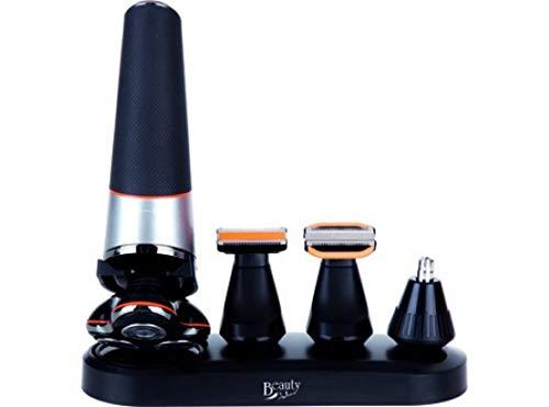 Jata MP34B Corta Barba Afeitadora 5 en 1 con Cabezales Extraíbles para Una Fácil Limpieza Recargable en 2 Horas Precisión de corte Incluye Accesorios