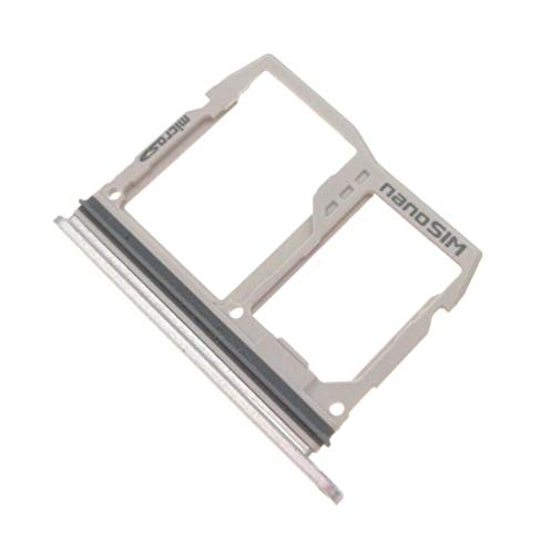 ePartSolution_LG G6 H870 H871 H872 LS993 VS998 SIM Tray Card Holder Slot + SD Card Tray Silver Replacement Part USA