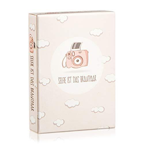 Hochzeitsspiel: Selfie ist das Brautpaar – Box mit kreativen und lustigen Fotoaufgaben – Tolles Spiel für Gäste oder Geschenkidee für das Brautpaar – Eisbrecher für die Hochzeit