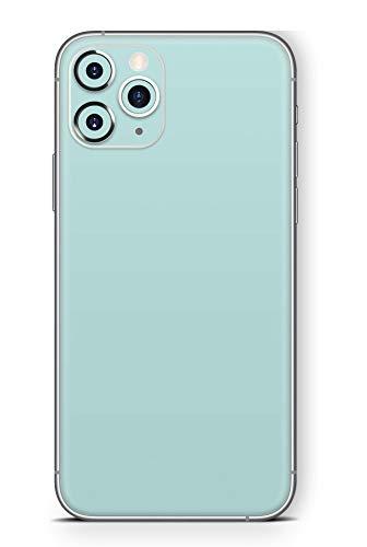 Skins4u Ultra Slim Schutzfolie für iPhone 11 Pro Max Skins Matte Oberfläche Aufkleber Skin Klebefolie Kratzfest Case Cover Folie Solid State Mint