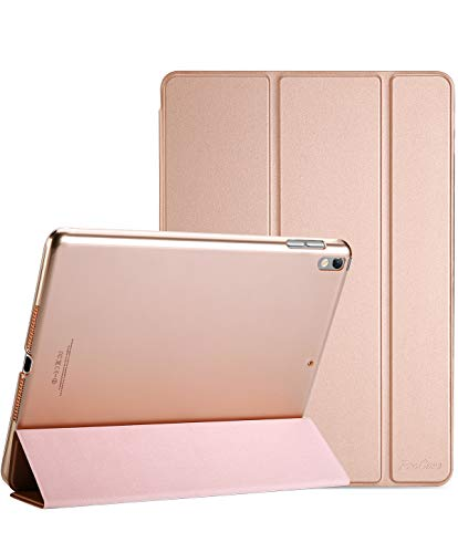 ProCase iPad Air 3 10.5' 2019 (3rd Generation) / iPad Pro 10.5' 2017 Smart Case Cover - Ultra Slim Lightweight Stand Case with Translucent Frosted Back, Auto Sleep/Wake –Rose Gold