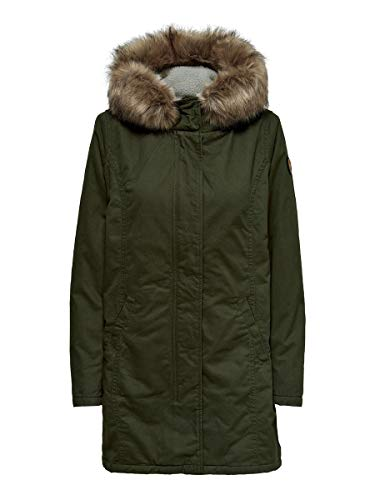 ONLY Damen Parka Leinen LForest Night