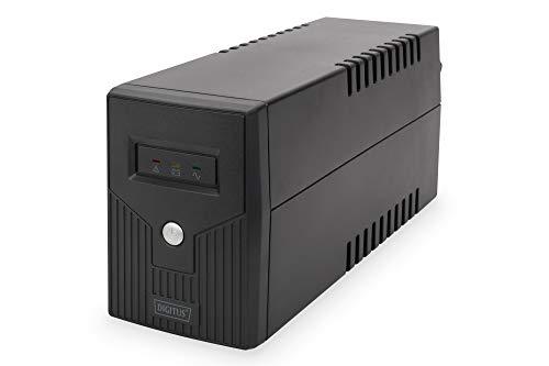 DIGITUS Line-Interactive VI USV - 600VA / 360W - AVR - 2 Schutzkontakt-Steckdosen - Shutdown-Software USB/RS232/RJ11