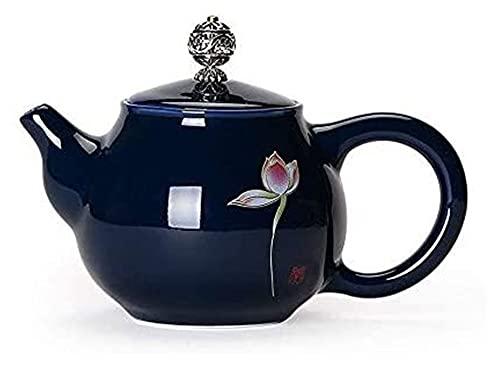 Tetera tetera tetera grande tetera cerámica con colador, té de 230 ml de té de la vendimia con infusedor de la tetera de porcelana floreciente y suelta del regalo de la tetera para la familia amante d