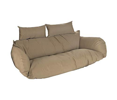 Home Deluxe - Fotel wiszący z polirattanu Twin – tylko poduszka