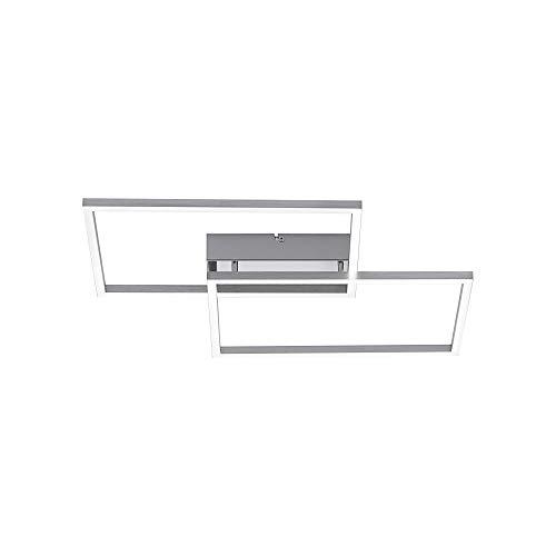 LED Deckenleuchte, 50x42, IP 20, Smart-Home, dimmbar über Medion-Life+App, Decken-Lampe, Farbtemperatursteuerung, warmweiss - kaltweiss, Stahl-Design