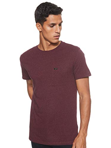 Lee Ultimate Pocket T-Shirt, Rosso (Burgundy MF), Small Uomo