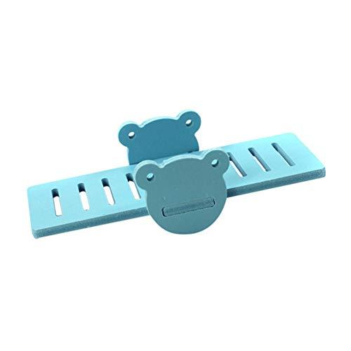 SimpleMfD Spielzeug aus PVC in Form eines kleinen Tieres für kleine Tiere, Zwerghamster, Eichhörnchen, Maus blau