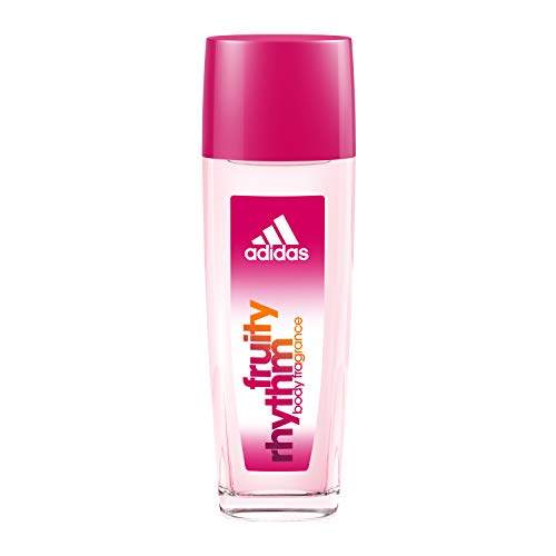 Adidas Fragrance Body Fragrance Fruity Rhythm for Women 2.5 Fluid Ounce Spray Bottle Body Spray for Everyday Use Fruity Fragrance