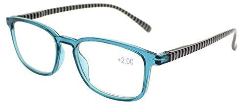 Gafas de lectura Stripes Azul +3,50