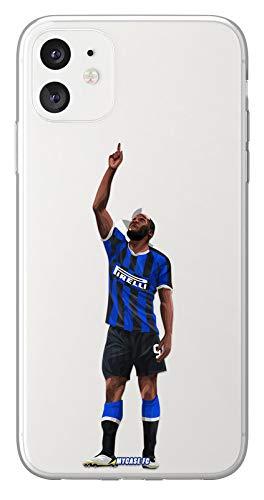MycaseFC - Cover di calcio personalizzabile Lukaku Inter Milan per Samsung Galaxy S4 Mini, in silicone, per smartphone personalizzato e fabbricato in Francia in TPU
