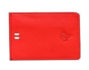 Vintage9 Magflip Leather Unisex Mag Wallet - Red