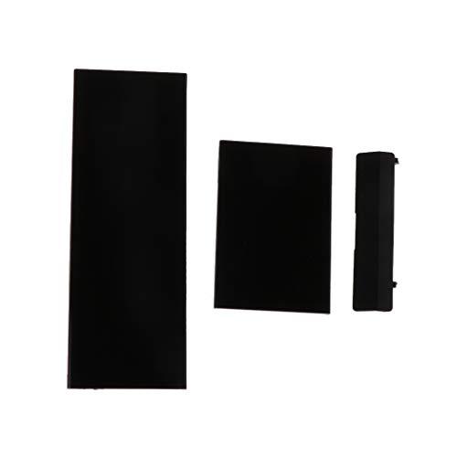 Qintaiourty Remplacement de la carte de mémoire pour couvercle de fente pour couvercle de carte 3 pièces pour la console Nintendo Nintend Wii