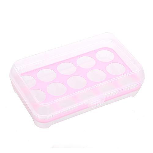 DQM 10 stuks 15 roosters eierplank voor koelkast, stapelbaar met kunststof coating, stapelbaar, ruimtebesparend in de koelkast en het bewaren van de eieren stabiel