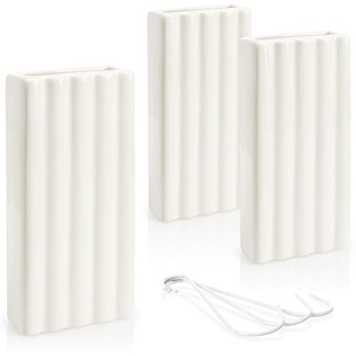 com-four® 3X humidificador de Aire en Blanco - evaporador de Agua para el radiador de cerámica con diseño de Rayas (Rayas Blancas)
