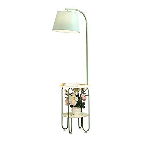 ACwhisper Simple bandeja de almacenamiento lámpara de pie nórdico moderno estudio dormitorio sala de estar americano lámpara de noche mesa de café vertical lámpara de pie