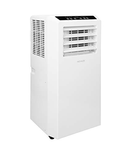 Novaer k5 2.05 kW • Climatizador portátil con manguera de salida • Aire acondicionado 3 en 1 • Refrigeración, ventilar y deshumidificación • habitaciones de hasta 20 m2/65 cbm • 7.000 BTU/h