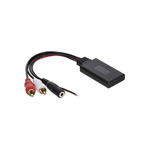 FLLOVE FANGLIANG Ajuste de reemplazo de micrófono Manos Libres para Alpine Pioneer Sony 2RCA Radio BT Audio Adaptador de música BT Módulo BT Adaptador de micrófono RCA