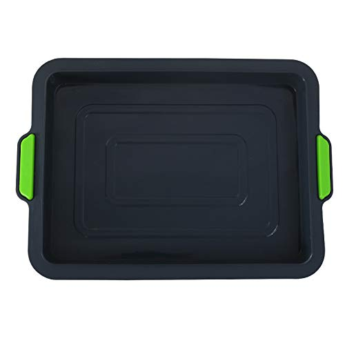 FRAVA Non-Stick Silicone Baking Tray with Rigid Metal Frame, Baking Tin, Baking Sheet, Food Safe,...